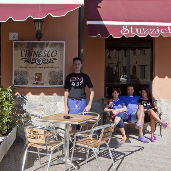 Andrea, Cinzia, Lucca and Francesca Bar the Innesto in Caffaggio Official suppliers of .