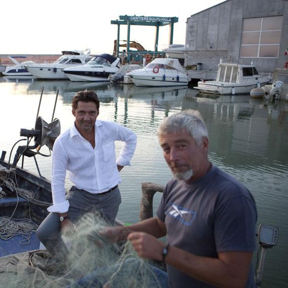 Andrea, amongst the last fishermen in San Vincenzo.