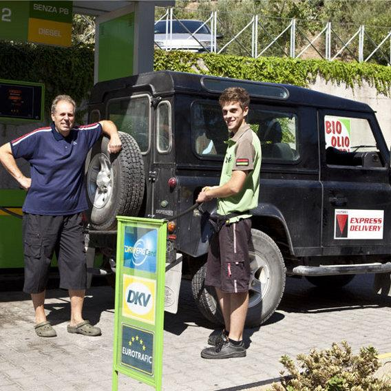 Claudio and Francesco, the petrol gas station in Campiglia Marittima.