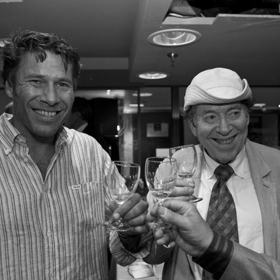 Sébastien and his father during the Rob Gourmets' Market tasting in Brussels.